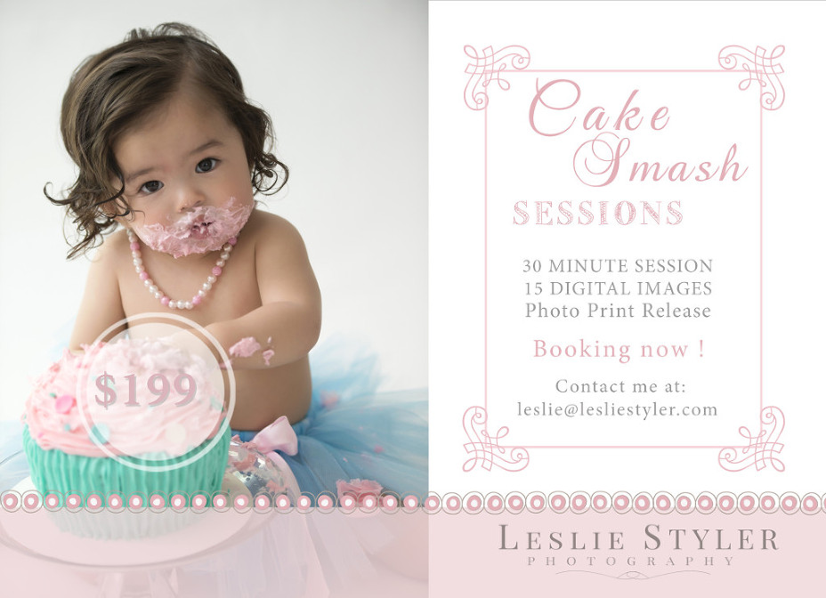 Phoenix baby photographer cake smash mini sessions
