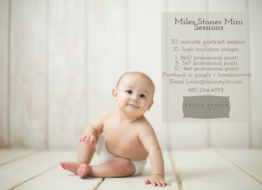 Miles stones photography session prices phoenix baby mini 2