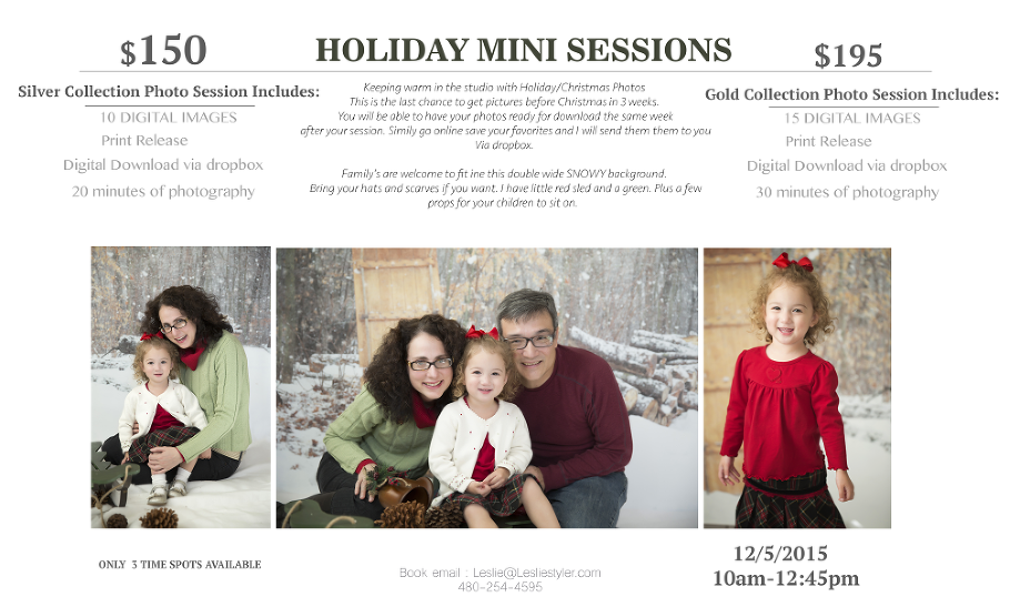 Phoenix holiday mini session east valley photographer